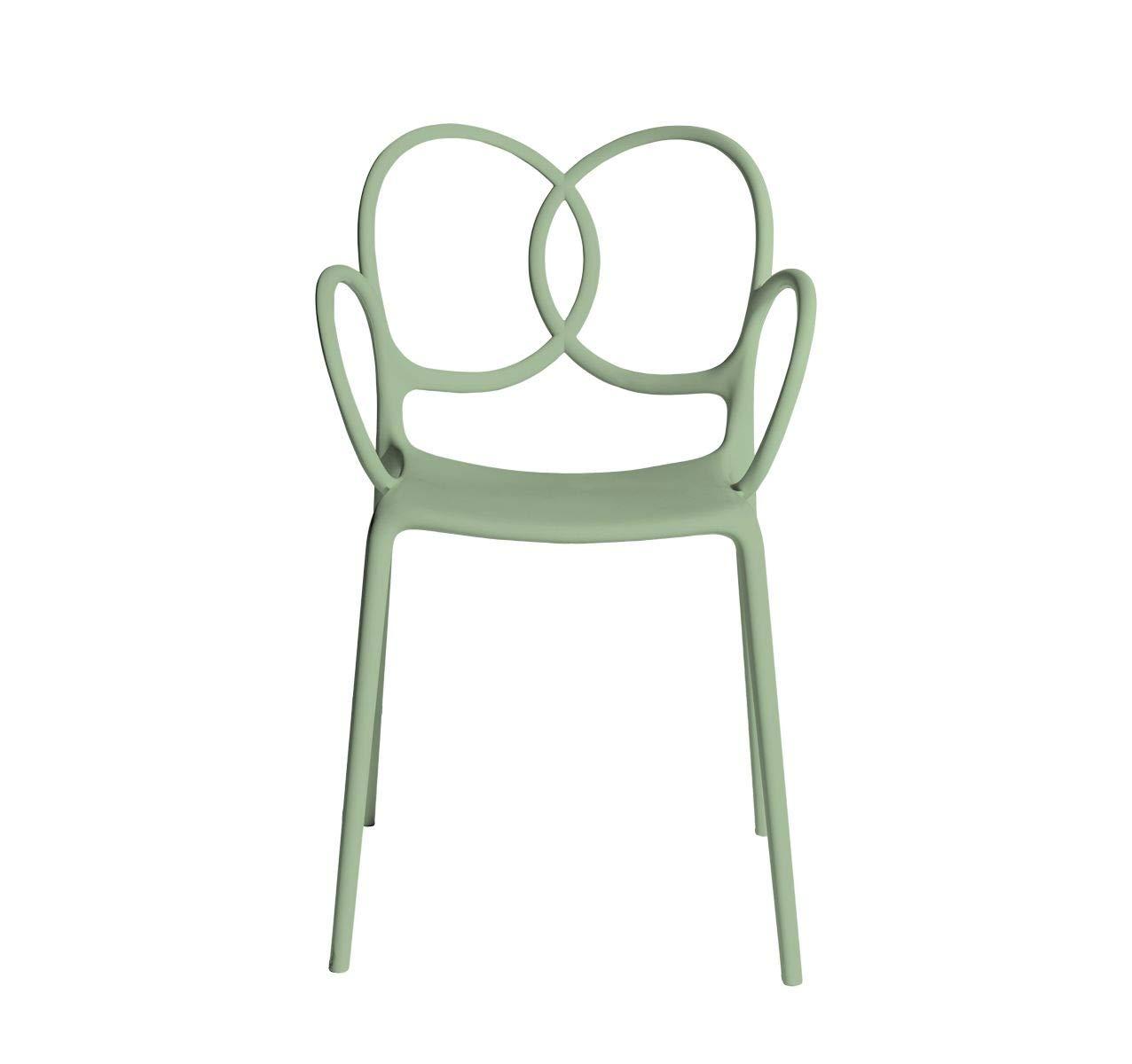 Driade Sissi Armlehnstuhl - grün - Ludovica & Roberto Palomba - Design - Gartenstuhl - Küchenstuhl - Speisezimmerstuhl - Terrassenstuhl