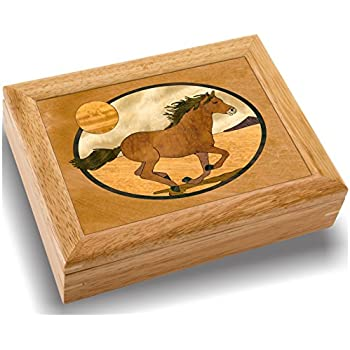 Horse Jewelry Box Awesome Amazon Horse Wood Art Trinket Jewelry Box Gift Handmade USA