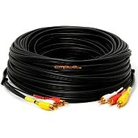 GadKo™ 3-RCA Composite Video Audio A/V AV Cable GOlD -w 100 ft