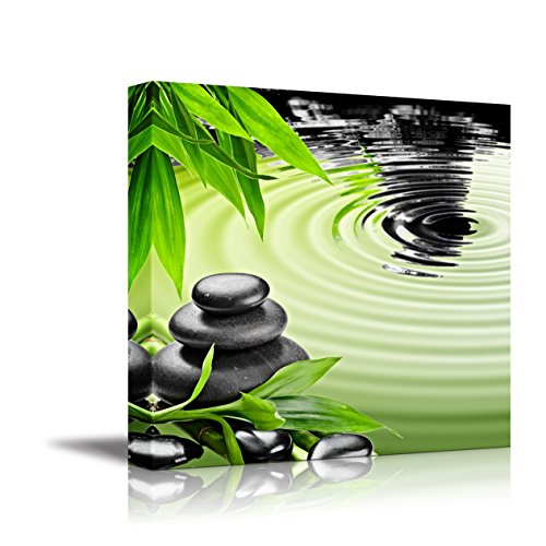 Zen Basalt Stones and Bamboo ing