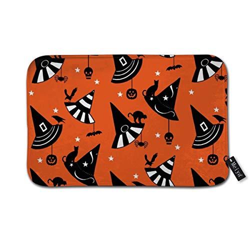 Halloween Hats Orange Doormat Entrance Mat Floor Mat Rug Indoor/Front Door/Bathroom/Kitchen and Living Room/Bedroom Mats 23.6