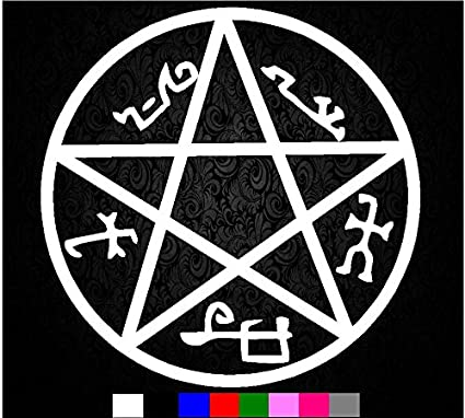 Amazon Supernatural Devils Trap Symbol Sigil Vinyl Sticker