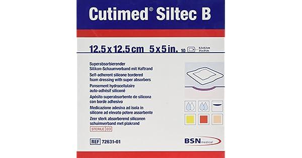 Amazon.com: BSN cutimed Siltec Espuma Vendajes B 12,5 cm x ...