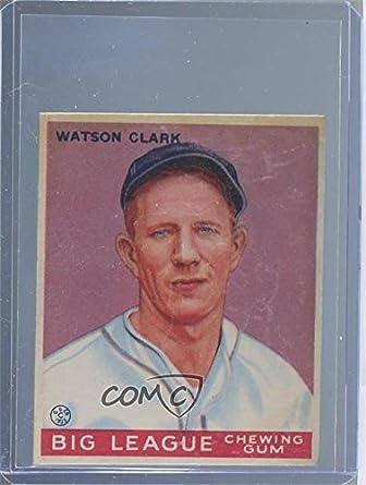 Amazoncom Watty Clark Watty Clark Baseball Card 1933