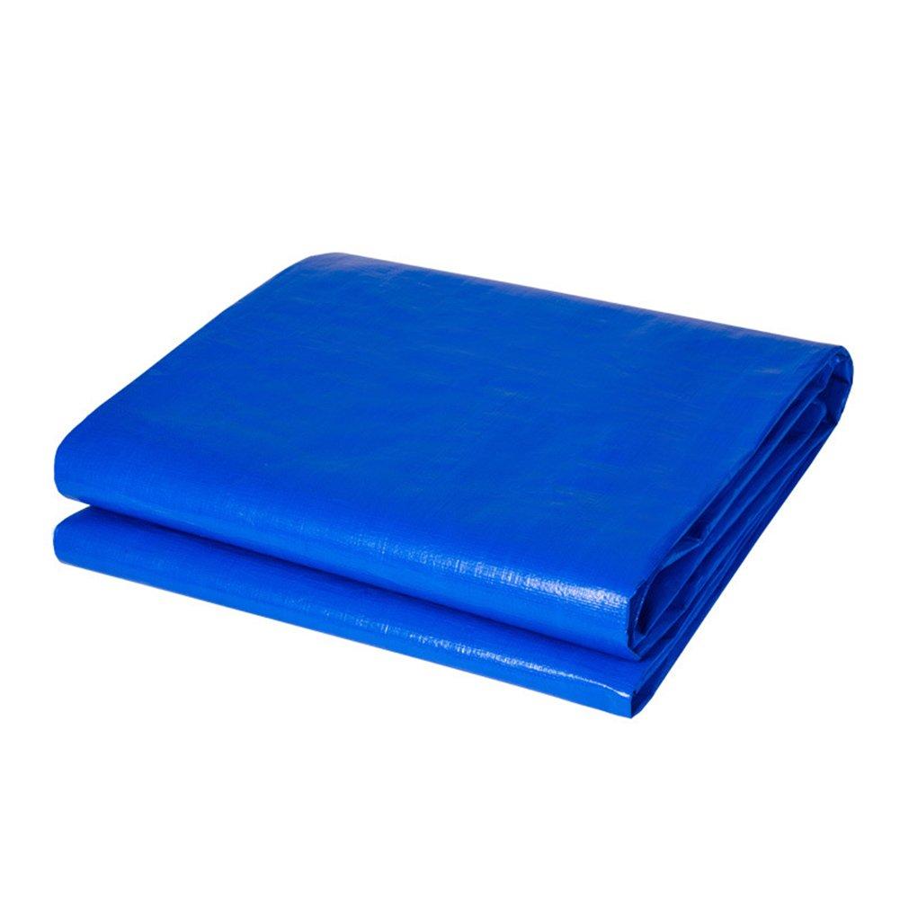 CHAOXIANG オーニング 厚い 折りたたみ可能 両面 防水 日焼け止め 耐寒性 耐摩耗性 耐食性 防塵の 軽量 PE 青、 180g/m 2、 厚さ 0.43mm、 21サイズ (色 : 青, サイズ さいず : 4×5m) B07DBPHTWW 4×5m|青 青 4×5m