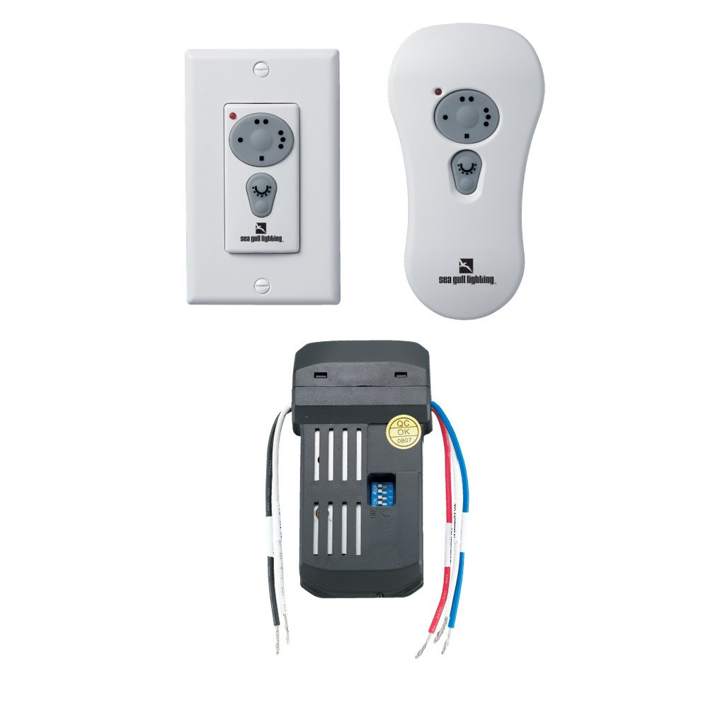 Sea Gull Lighting 16006-15 Combo Remote Control Kit Fluorescent Remotes for Fan, White by Sea Gull Lighting