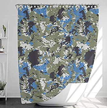 per Vasca da Bagno Bianco E Nero Antimuffa Impermeabile Shower Curtain 120 * 180 Plaid INNObeta Tenda da Doccia in Tessuto con 12 Ganci
