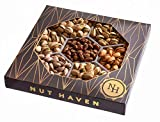 Nut Haven Gourmet Assorted Pistachio Nut Gift Basket/Box ~ variety of freshly roasted 7 section nut tray ~ Great for: Corporate, Holiday, Birthday, Get well, Thank you, Men & Women, snack ~ Prime