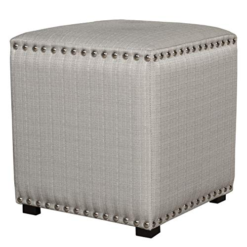 - Hillsdale Furniture 50991 Lani Vanity Stool, Light Linen Gray