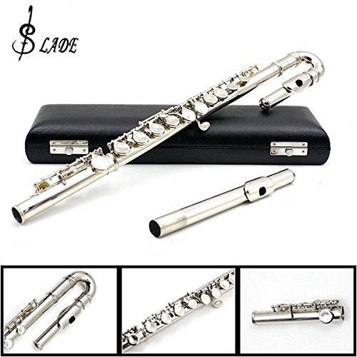 LADE Children U Flute 16 Holes C Tone Obturator Bending Flute Sliver