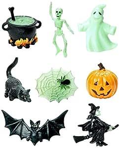 Safari Ltd Designer TOOBS Glow-in-the-Dark Halloween, Pack of 8