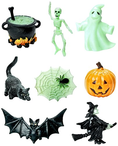 Safari Ltd Designer Halloween TOOB – Glow in the Dark – BPA, Phthalate, and Lead Free – Contains 8 Figurines -
