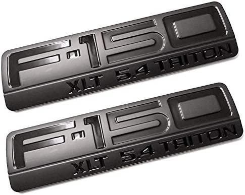2004 2005 2006 2007 2008 Ford F-150 XLT 5.4 Triton Fender Emblem Badge Black