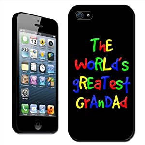 Fancy A Snuggle - Carcasa rígida para iPhone 5 con texto The World's Greatest Grandad