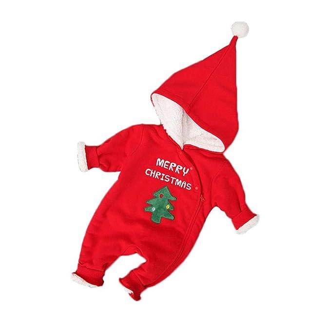 WangWtry Trajes de Navidad Mamelucos Mono de Terciopelo ...