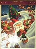 Best Value Christmas Advent Calendar Greeting Card - Santa with Presents going down Chimney. Imported. Perfect Holiday Gift for that Someone Special {jg} mom, dad, sister, brother, friend, gay,