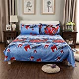 Happy Christmas Gift Pattern Print Microfiber Duvet Cover 3pcs,Super Comfortable and Smooth,Hypoallergenic,Moisture and Dust Mites Resistant