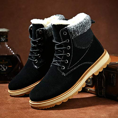 LOVDRAM Stiefel Männer Winter Dicke Warme Schneeschuhe Herren Baumwollstiefel Martin Stiefel Kurze Stiefel Baumwolle Schuhe