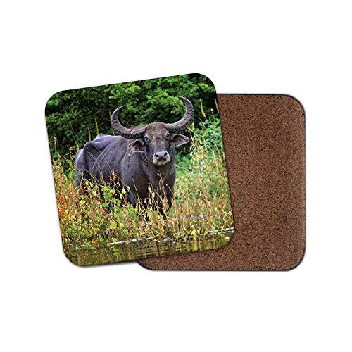 Price comparison product image Beautiful Water Buffalo Coaster - Wild Animal Nature Cool Wildlife Gift 12766