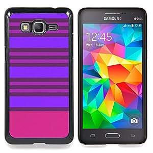 /Skull Market/ - Purple Pink Lines Symmetric For Samsung Galaxy Grand Prime G530H G5308 - Mano cubierta de la caja pintada de encargo de lujo -