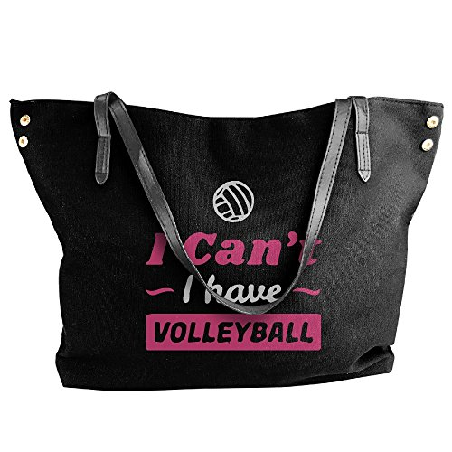 Women's Shoulder Can't Volleyball Handbag Bag I Large Black Tote Have Hand Canvas tZXrqZ