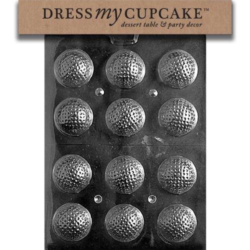 Golf Ball Candy Mold - Dress My Cupcake Chocolate Candy Mold, Golf Balls 3D