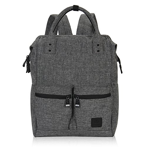 Veegul Stylish Doctor Style Multipurpose Travel Backpack Everyday Backpack for Men Women Dual Pockets Grey Polyester ()