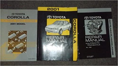 2001 toyota corolla service repair shop manual set oem (service  manual,electrical wiring diagrams manual, and the automatic transaxle  manual
