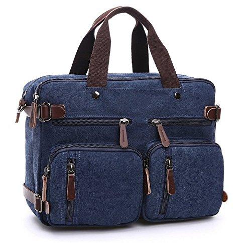 (Premium Hybrid Backpack Briefcase Messenger Bag for Apple MacBook Pro with Retina display 15'' / MacBook Pro / Air 15.4-Inch Laptop / HP Pavilion / ENVY - 15t 15 laptops (Blue))