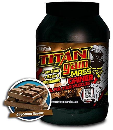 Carbohidrato Titan Gain Mass 3 kg Revtech Nutrition sabor chocolate: Amazon.es: Salud y cuidado personal