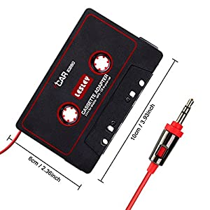 Universal Car Audio Cassette Adapter for Smartphones, 3.5mm AUX Music Cassette Tape Adapter MP3 Player Converter for iPhone, iPod, iPad, Android Phones, MP3 Players