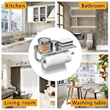 BESy Adhesive Paper Towel Holder Wall Mounted for