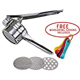 Premium Stainless Steel Potato Ricer & Baby Food Strainer/Masher and Press for Fruits