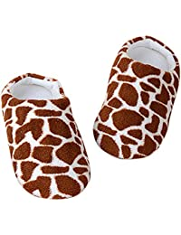 Women Men Plush Slippers Indoor Winter House Shoes Animals Print Floor Warm