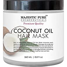 Restorative Coconut Oil Hair Mask to Condition and Revive Dry and Damaged Hair. Majestic Pure Coconut Oil Hair Mask is a rich, creamy natural treatment designed to hydrate and repair damaged hair. It restores and conditions weak, damaged, and over-pr...
