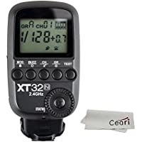 Godox XT32-N 2.4G Wireless 1/8000s High-speed Sync Flash Trigger Transmitter for Nikon DSLR Camera with MicroFiber Cloth
