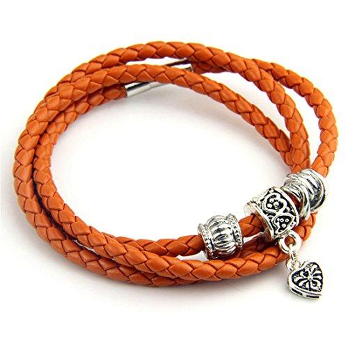 Bamoer Leather Bracelet Wristband Jewelry product image