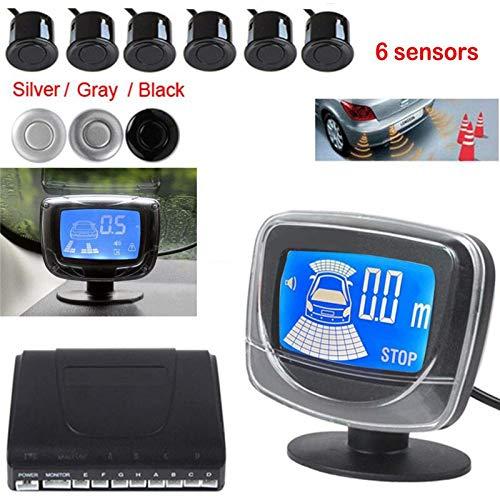 Car Parktronic LED Parking Sensor With 6 Sensors Reverse Backup Parking Radar