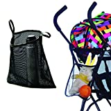 Charis Kid Mesh Stroller Bag - Stroller Attachable Organizer Carrying Bag - Umbrella Baby Stroller Accessories (Black (1 Pack))