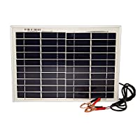 10 Watt Polycrystalline Solar Panel Charger for Lawn Mowers - Mighty Max Battery brand product