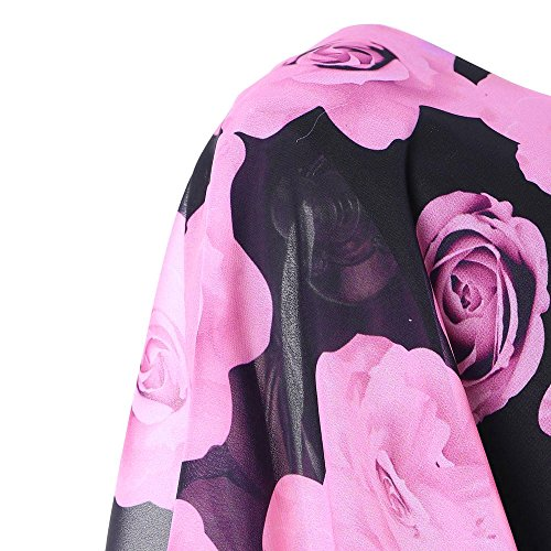 Rosa de Vestidos Mujeres Vestir Verano Moda Flores Dress❤️️Lonshell Recta Falda de Impresión Elegante de para de de Stretch Falda Señoras Recta Mujer Skirt Tubo de Vestidos A4Oq7A