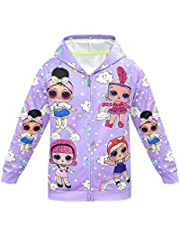 Little Girls Animal Printed Hoodies Autumn Winter Coat Unicorn Jacket Kids Clothes