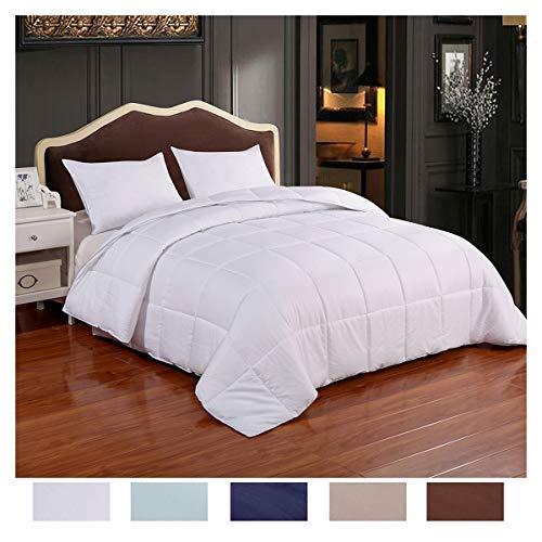 Homelike Moment Lightweight Comforter Down Alternative Comforter King Duvet Insert White All Season Microfiber Comforter with Corner Tabs Hypoallergenic King Size