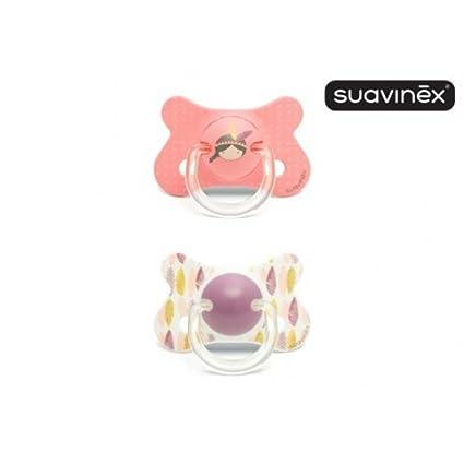 Suavinex Chupete de silicona de fusión anatómico 18 meses + ...