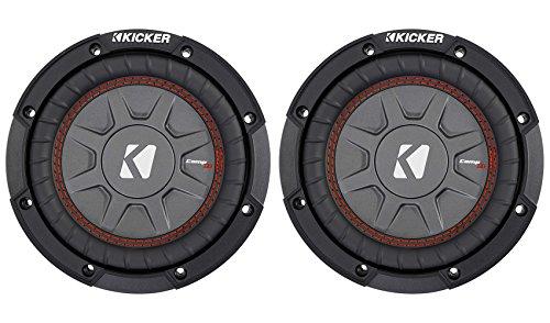 "(2) Kicker 43CWRT671 COMPRT67 6.75"" 600W DVC 1-Ohm Car Su..."