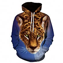 leopard Moon 3D Hoodies Plus Size Printed Sweatshirts Men Women Pullover Novelty Brand Tracksuits Hooded Casual Pocket Jacket