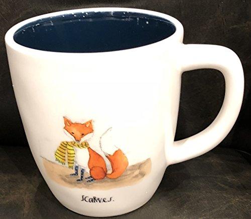 Rae Dunn Artisan Collection by Magenta Dishwasher Safe Mug SCARVES/FOX-midnight blue (Kitchen Collection Dishwasher Safe Mug)