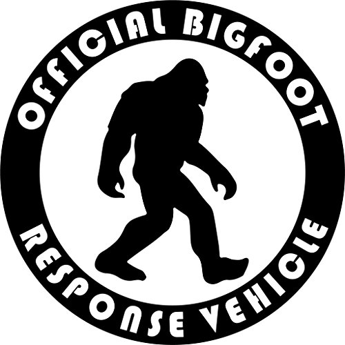 Vehicle Vinyl Decals - Bigfoot Response Vehicle Vinyl Decal Sticker|Cars Trucks Vans Walls Laptops Cups|Black|5.5 inches|KCD906