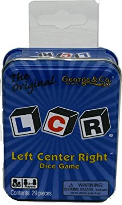 LCR Left Center Right Dice Game - Blue Tin