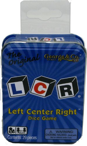 LCR Left Center Right Dice Game – Blue Tin